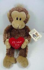 "Gund Monkey Plush Red Heart 12"" I'll Love You Forever Furever NWT"