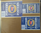 VINTAGE AUSTRALIAN BEER LABELS - LOT OF 3 CARLTON & UNTIED, FOSTERS LAGER #2