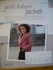 Girl's Bolero Jacket Knitting Pattern from Bergere de France Magazine