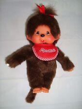 "Monchhichi Girl Bib Sekiguchi 7"" Doll Plush Monkey Vintage Stuffed Thumb Sucker"