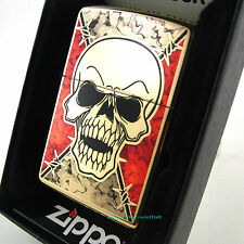 ZIPPO Feuerzeug FUSION SKULL High Polished Brass Totenkopf Katalog 2016 NEU OVP