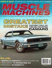 Muscle Machines Magazine September 2015 - Greatest Mistake Camaro, 1970 Boss 429