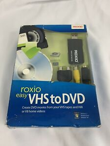 Roxio Easy VHS to DVD for Windows Create DVD Movies from VHS, Hi8 & V8
