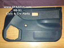 90-91 HONDA CIVIC SEDAN PASSENGER FRONT DOOR PANEL USDM DOOR CARD