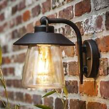 Lutec Cate Exterior Wall Lantern in Brown/Black