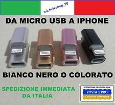 ADATTATORE DA MICRO USB A LIGHTNING CONNETTORE PER IPHONE