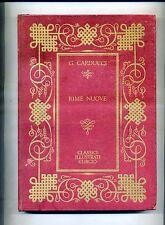Giosue Carducci # RIME NUOVE # Armando Curcio 1967 # Classici Illustrati Curcio