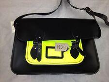 The Cambridge Satchel Company  OX Old School Bags ( Black -Neon Green) $ 298