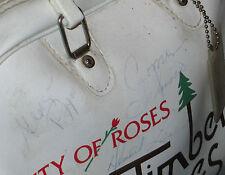 SIGNED 70's BOWLING BAG Hall of Fame Tiger Smith Autograph Portland OR PBA Ball
