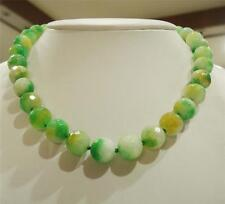 """Emerald Faceted Round Necklace 18 """"12mm multi-color"""