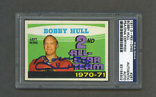 Bobby Hull signed Blackhawks 1971 Opc AS card Psa-Dna