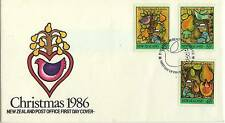 A LOVELY FDC FROM NEW ZEALAND CHRISTMAS 1986
