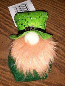"""St. Patrick's Day Gnome Plush Doll 5"""" Gnome Leprechaun March Gnome Tiered Tray"""