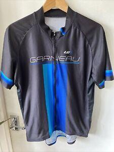 LG Garneau Black Short Sleeve Cycle Jersey Size XXL Full Zip