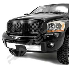Raptor 3x White LED Gloss Black Packaged Mesh Grille+Shell for 06-09 Dodge RAM