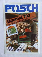 Posch Sägomat 700 - Brennholzsäge - Prospekt Brochure 05.1984  (0904