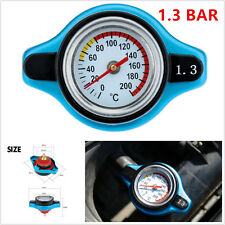 Universal Car Thermost Radiator Cap +Water Temp Gauge 1.3 BAR Cover Small Head