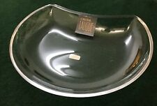 "Vintage Lalique France ""ANTIBES"" Signed Crystal Crescent Dish Bowl Unused!"