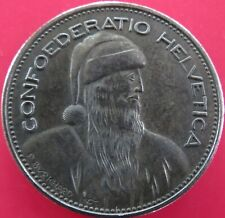 1965 FIVE SWISS FRANCS 5FR SWISS CHRISTMAS HELVETICA HOBO CARVED FANTASY COIN