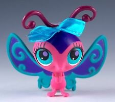 Littlest Pet Shop Butterfly #2740 Pink With Purple and Turquoise Eyes