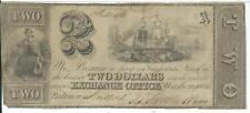 $2 Baltimore Maryland Exchange Office issued Fowler Brothers  #1246 1841 Ship