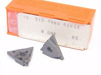 NEW SURPLUS  10PCS.  CARBOLOY  TNMA 43NGR (W=.094)  GRADE: 515  CARBIDE INSERTS