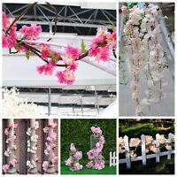 180cm Artificial Flower Vine Cherry Rattan Wedding Arch Garland Home Party Decor