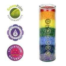 7 Chakra Kerze Chakren Glaskerze Ritualkerze mit ätherischen Ölen