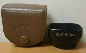 Vintage Rolleiflex Slip On Lens Hood with Case. Fits early Rolleicord