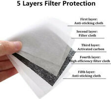 10 Pack Adult PM2.5 Activated Carbon 5 Layer Face Mask Replacement Filters USA