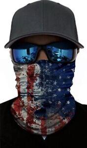 AMERICAN FLAG FACE MASK Shield Neck Gaiter Headband Bandana Du Rag Covering