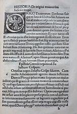 INKUNABEL GESCHICHTE TROJA DICTYS CRETENSIS FRANCISCUS FARAGONIUS VENEDIG 1499