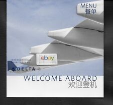 DELTA AIRLINES INTERNATIONAL MAIN CABIN WELCOME ABOARD MENU PVG SHANGHAI/SEATTLE