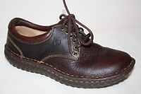 BORN BROWN LEATHER LACE UP CASUAL OXFORD SHOES WOMENS SZ 6 M