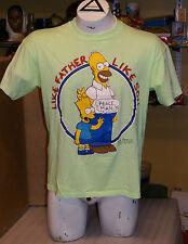 Vintage 1990 The Simpsons Bart Homer Like Father Like Son Peace Man TV T-Shirt L