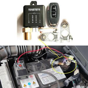 Universal 230A 12V Auto Batterie Trennschalter Trennrelais mit 1x Fernbedienung