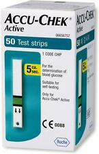 Accu-Chek Blood Glucose Active Test Strips- 50 For Self Testing