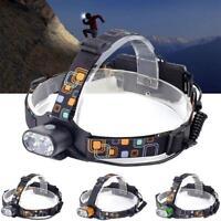 2X T6 LED 20000 Lumens USB Headlight 3 Modes 2X18650 Battery Flashlight UP