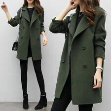 ELEGANT Women Slim Coat Outwear Long Lapel Jacket Ladies Spring Warm Long