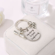 Keychain Engraving Keyring Stainless Steel Graduation Keyring Gifts Ornament H