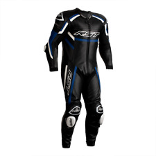 RST Tractech Evo R Leather Motorcycle 1 One Piece Suit - Black / Blue / White