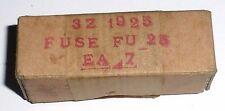 7 cartouches fusible verre FU25 mil US NOS NIB 5A 25V D 6,3 mm L 31 mm 3AG