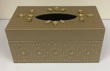 Luxury Gold Tissue Box Holder - Jewelled Gem Design Tissue Box Holder