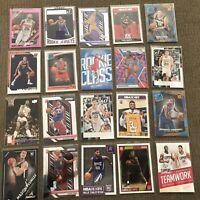 HUGE 20 Card Basketball Lot Rookies, Stars, Inserts, Prizms, Mikal Bridges, Dr J