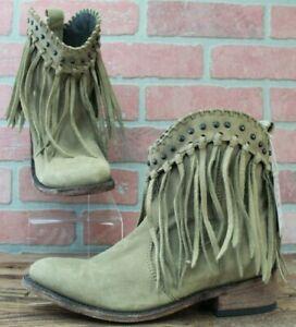 NEW Womens Liberty Black Fringe Boots 7 Vegas Taupe LB713303 SAMPLE Retail $280