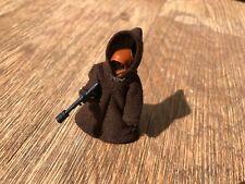 Vintage Star Wars Figure Kenner Palitoy Jawa Large Hood Green Stitch 1977