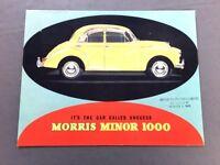 1962 Morris Minor 1000 Vintage Car Sales Brochure Catalog Traveller Convertible