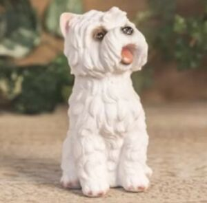 WEST HIGHLAND TERRIER FIGURINE DECORATIVE ORNAMENT DOG PUPPY GIFT BOX PRESENT