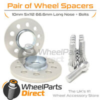 Wheel Spacers (2) & Bolts 10mm for Audi S4 [B9] 17-20 On Aftermarket Wheels
