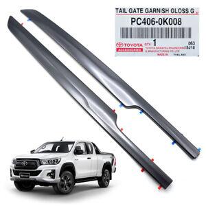 Genuine Tailgate Garnish Dark Grey Fits Toyota Hilux Sr5 Revo Rocco 2015 2019